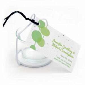 Retro Lanterns plantable favor tags