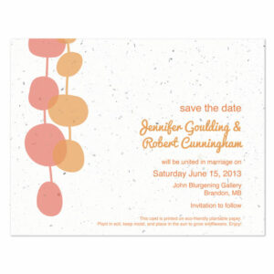 Retro Lanterns plantable save the date cards