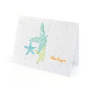 Plantable starfish thank you cards