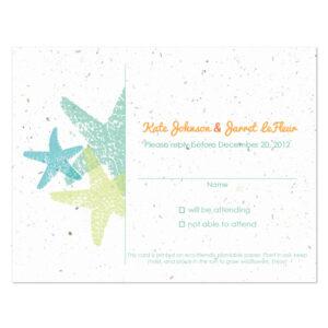 Plantable starfish reply cards