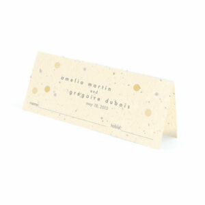 Plantable polka dots place cards