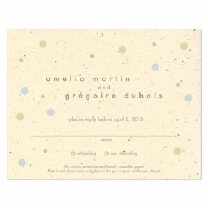 Plantable polka dots reply cards