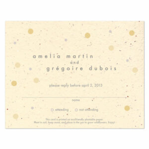 Plantable polka dots reply cards