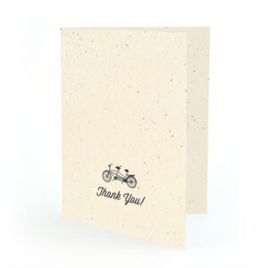 Plantable tandem Bicycle Thank You Cards