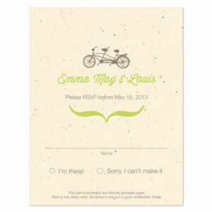 Plantable Tandem Bicycle Reply Cards