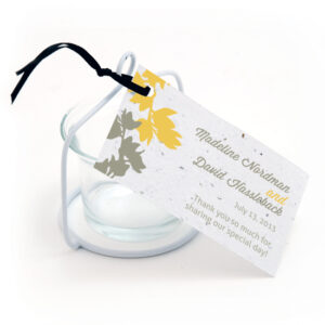 plantable modern orchid favor tags