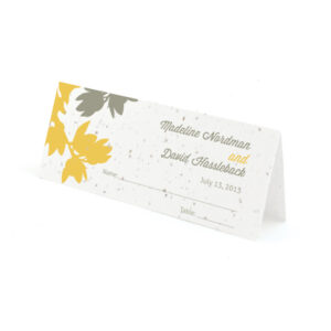 plantable modern orchid place cards