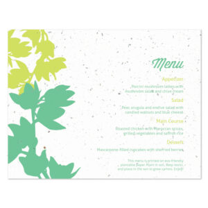 plantable modern orchid menu cards