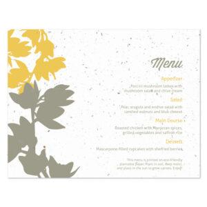 plantable modern orchid menu cards