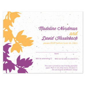 plantable modern orchid reply cards