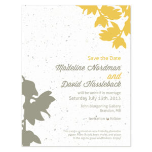 plantable modern orchid save the date cards