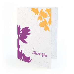 plantable modern orchid thank you cards