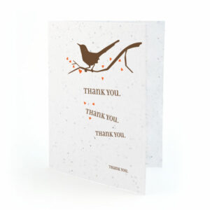Song plantable thank you cards