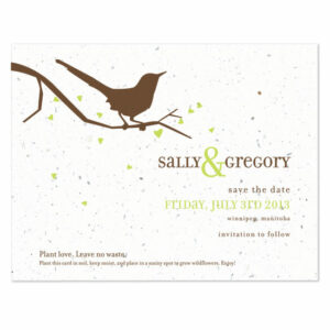 Song Plantable Save the Date Cards