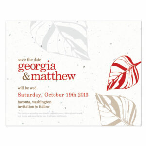 Leaf Plantable Save the Date Cards