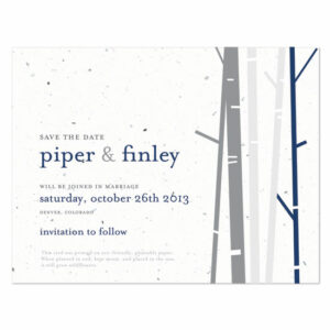 Birch Plantable Save the Date Cards