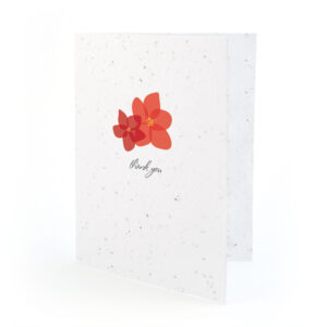 Fresh Flowers Plantable Thank You Cards: Modern Duo