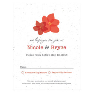 Fresh Flowers Plantable Reply Cards: Modern Duo