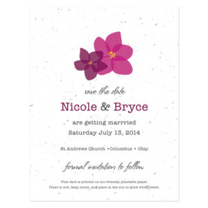 Fresh Flowers Plantable Save The Date Cards: Modern Duo