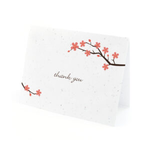 Plantable Cherry Blossom Thank You Cards