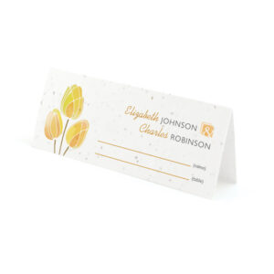Watercolor Tulips Plantable Place Cards