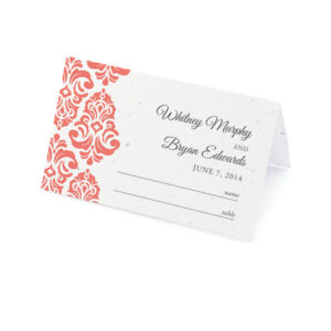 Plantable Classic Damask Place Cards