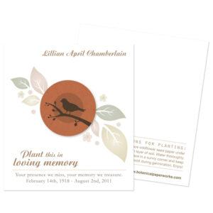 Birdwatcher Memorial Cards