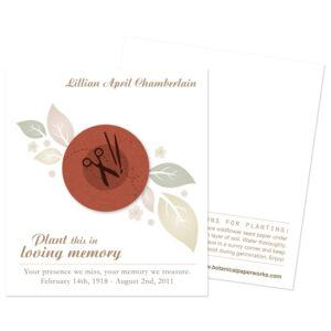 Crafter Memorial Cards
