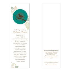 Birdwatcher Memorial Bookmarks