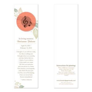 Musical Memorial Bookmarks