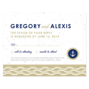 Nautical Plantable Reply Cards