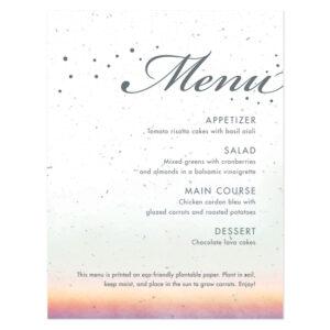 Celebrate Ombre Plantable Menu Cards