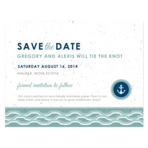 Plantable Nautical Save The Date Cards