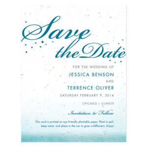 Celebrate Ombre Plantable Save The Date Cards