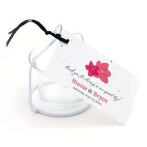Fresh Flowers Plantable Favor Tags: Modern Duo
