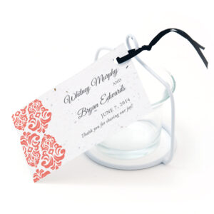 Plantable Classic Damask Favor Tags