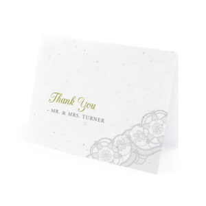 Romantic Lace Seed Thank You Cards