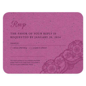 Romantic Lace Seed Reply Cards