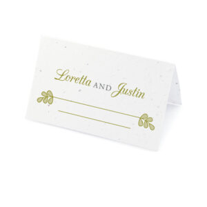Romantic Lace Seed Place Cards