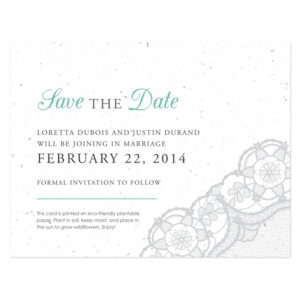 Romantic Lace Seed Save The Date Cards