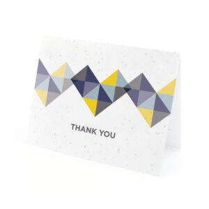 Geometric Seed Thank You Cards
