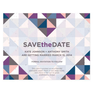 Geometric Seed Save the Dates