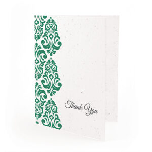Plantable Classic Damask Thank You Cards