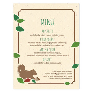 Rustic Tree Menu Cards