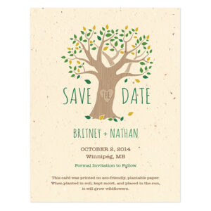Rustic Tree Save The Date Cards