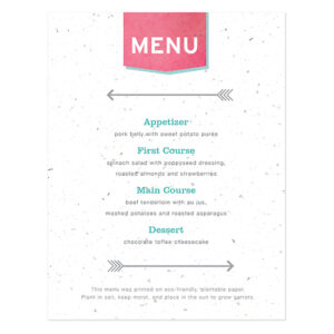 Love Story Menu Cards