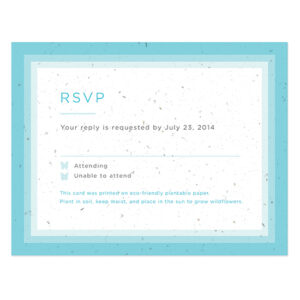 Ombre Butterfly Reply Cards
