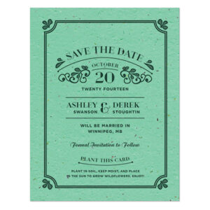 Vintage Plantable Save The Date Cards
