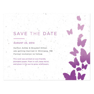 Ombre Butterfly Save The Date Cards