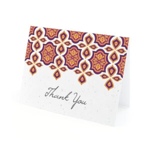 Indian Motif Plantable Thank You Cards